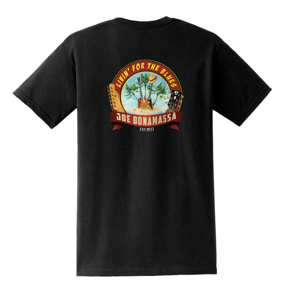 Livin' for the Blues Pocket T-Shirt (Unisex) - Black