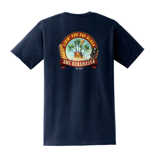 Livin' for the Blues Pocket T-Shirt (Unisex) - Navy