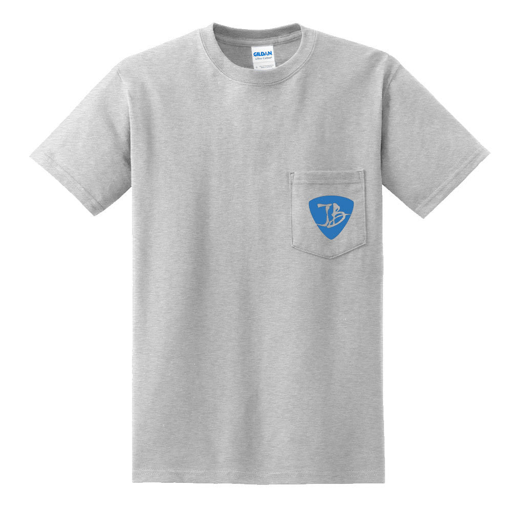 Livin' for the Blues Pocket T-Shirt (Unisex) - Ash