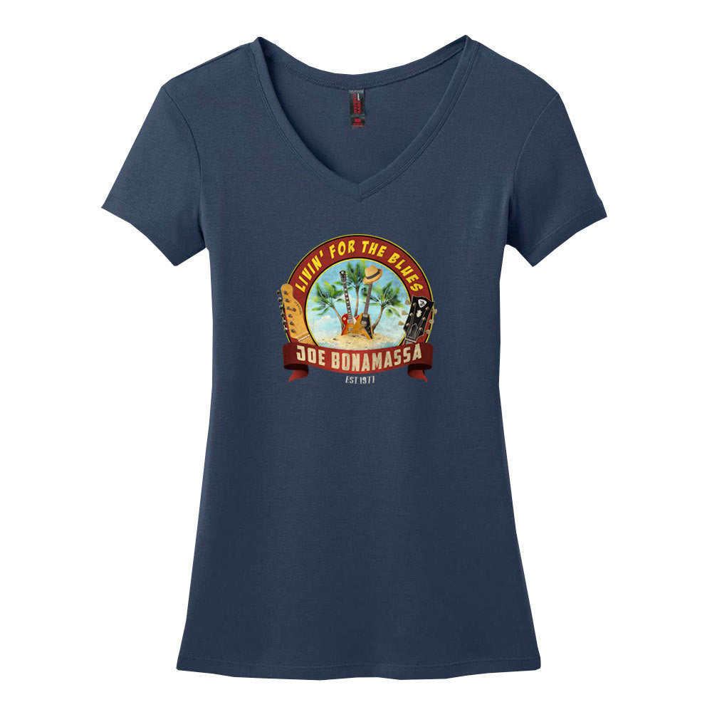 Livin' for the Blues V-Neck (Women) - Navy