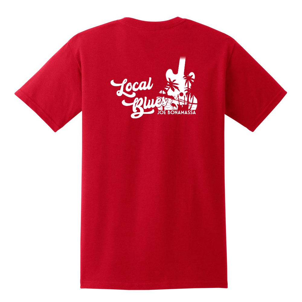 Local Blues Pocket T-Shirt (Unisex) - Red/White