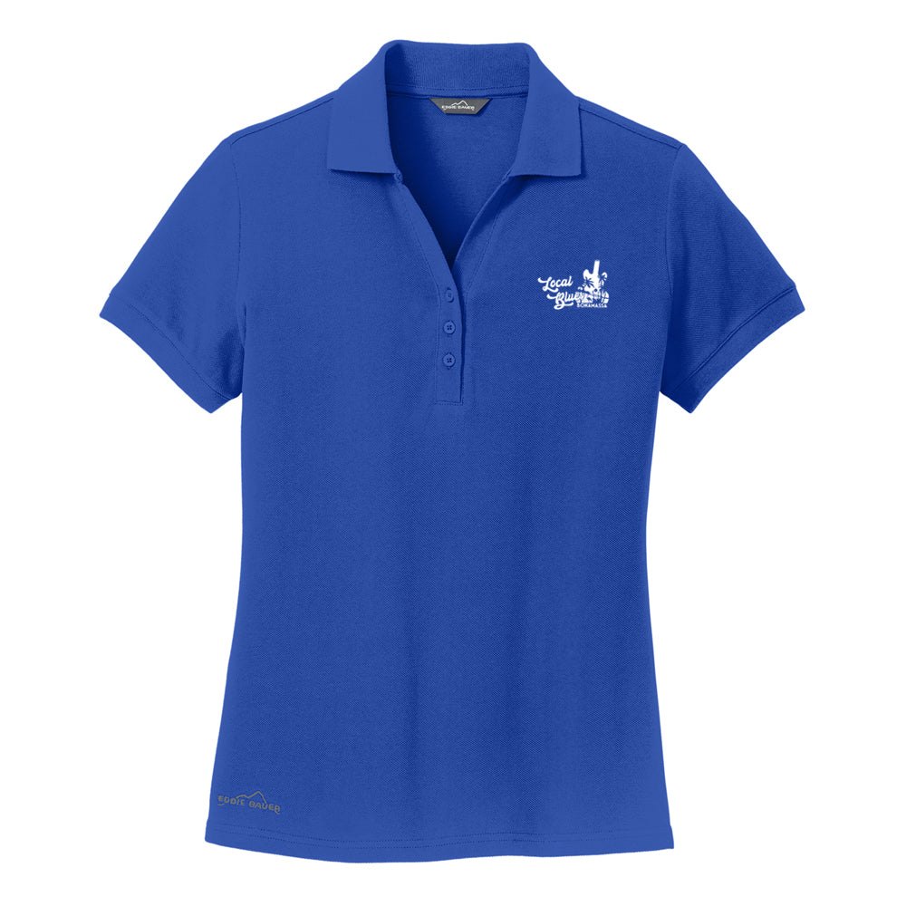 Local Blues Eddie Bauer Pique Polo (Women) - Blue