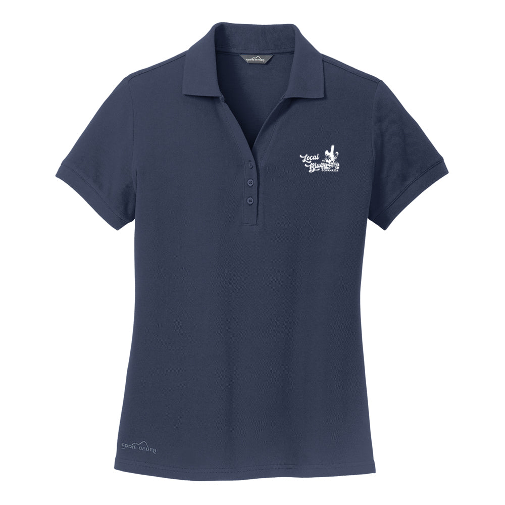 Local Blues Eddie Bauer Pique Polo (Women) - Navy