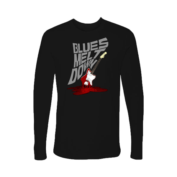 Blues Meltdown Long Sleeve (Men) - Black