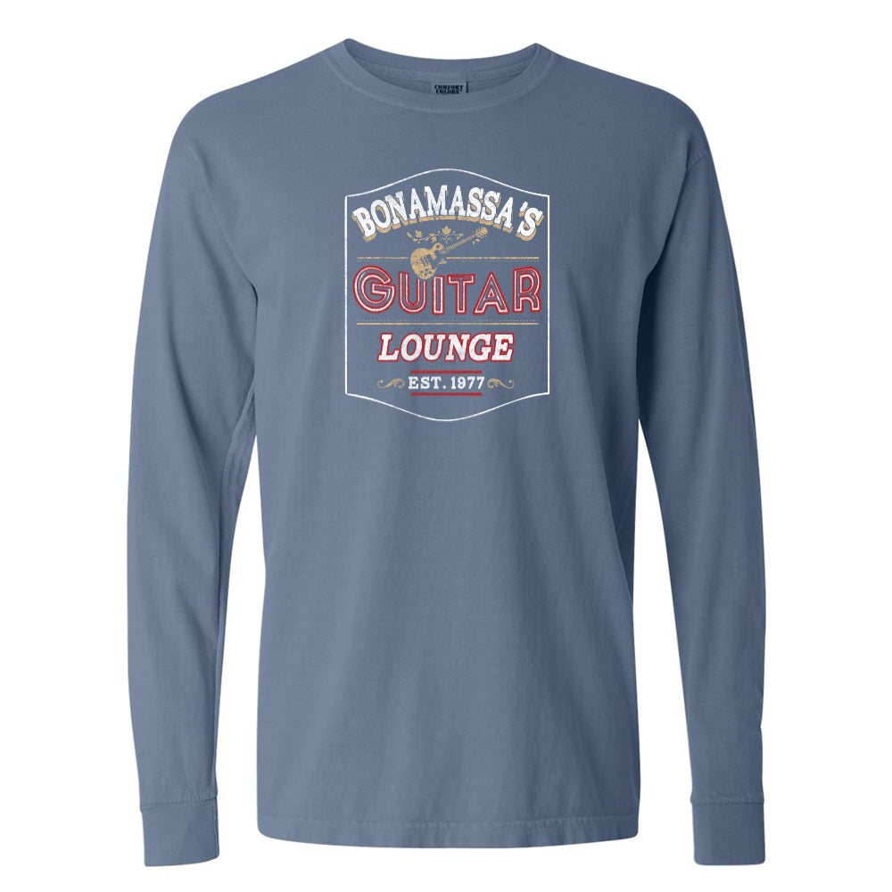 Bonamassa's Lounge Comfort Colors Long Sleeve T-Shirt (Unisex) - Blue Jean