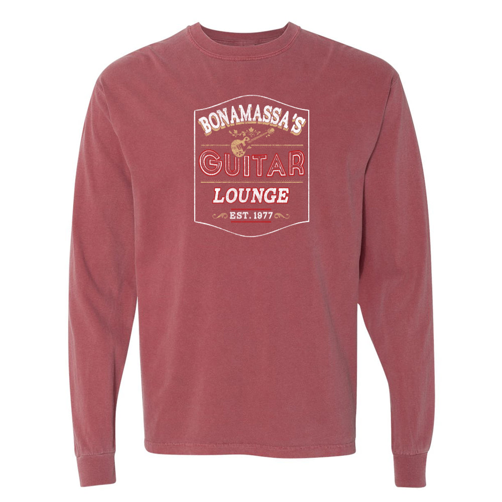 Bonamassa's Lounge Comfort Colors Long Sleeve T-Shirt (Unisex) - Brick