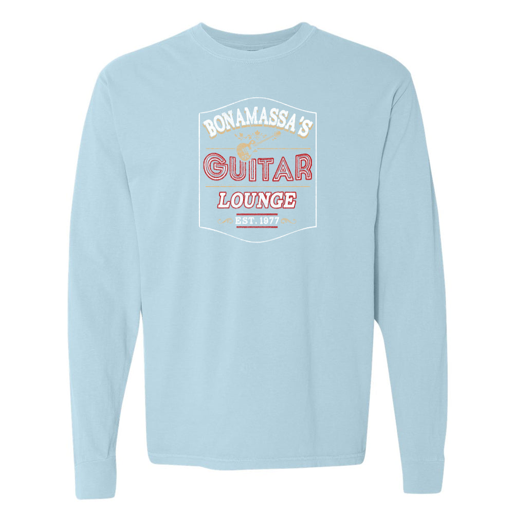 Bonamassa's Lounge Comfort Colors Long Sleeve T-Shirt (Unisex) - Chambray