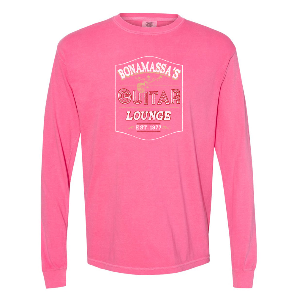 Bonamassa's Lounge Comfort Colors Long Sleeve T-Shirt (Unisex) - Crunchberry