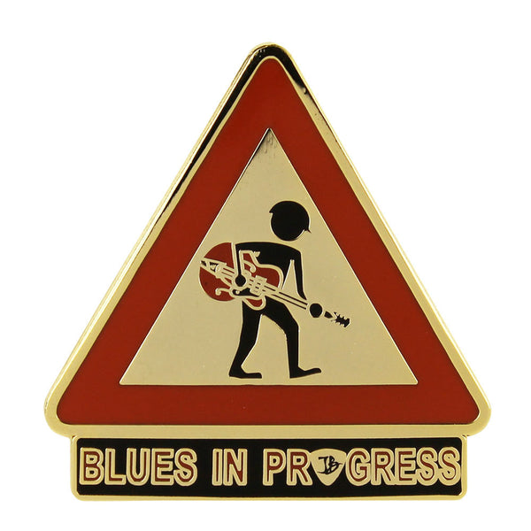 Blues in Progress Pin