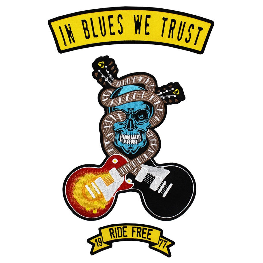 In Blues We Trust 3 Piece Sew On Patch