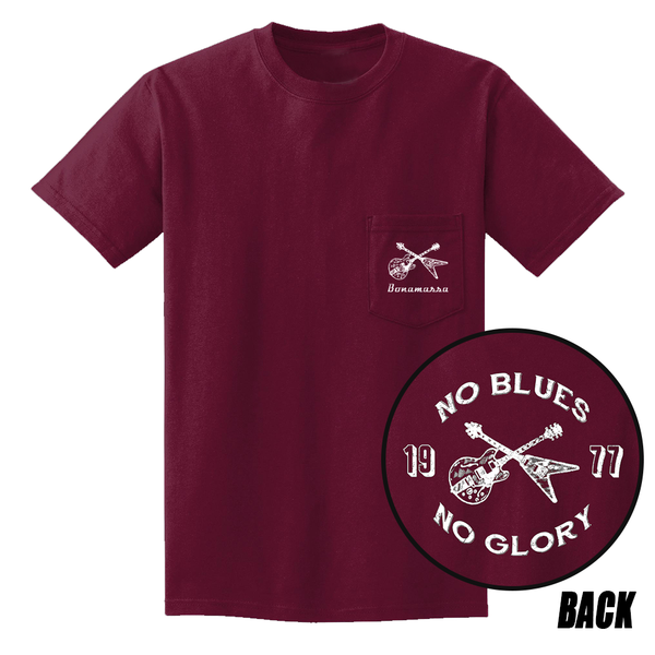 No Blues, No Glory Pocket T-Shirt (Unisex) - Maroon