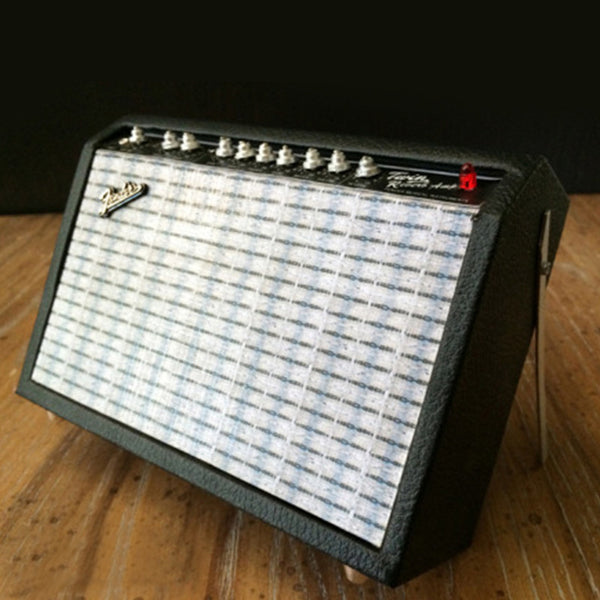 Miniature Fender Twin-Reverb Ornamental Amplifier Model