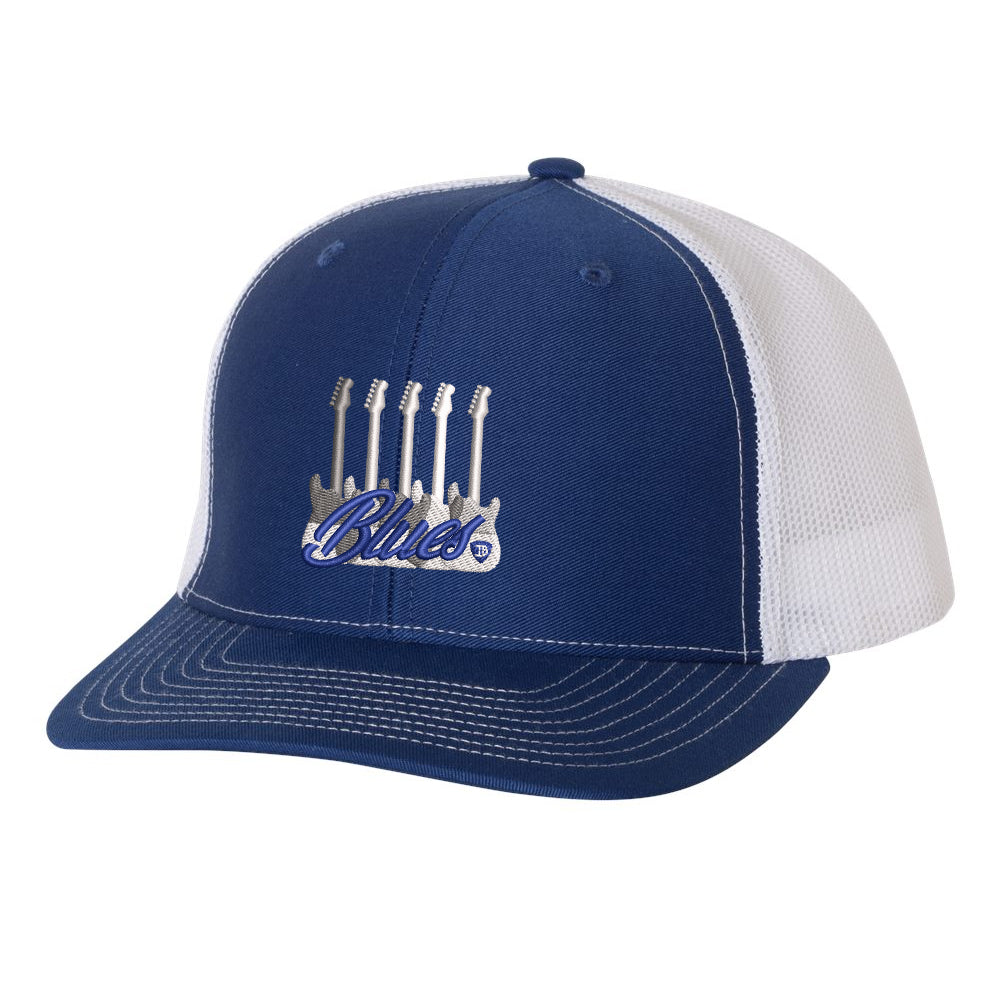 Monochromatic Blues Snapback Trucker Hat - Royal/White
