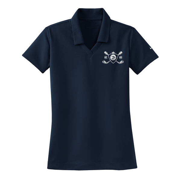 Blues Bogey Nike Dri-FIT Micro Pique Polo (Women) - Navy