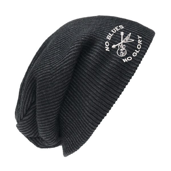 No Blues, No Glory Slouch Beanie - Black