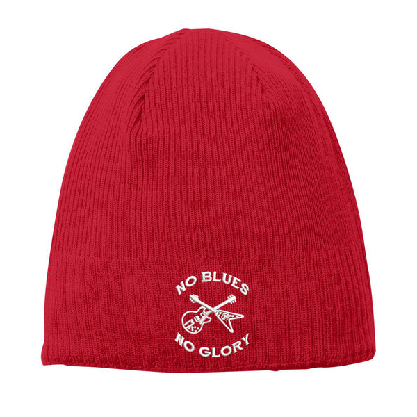 No Blues, No Glory New Era Knit Beanie - Red