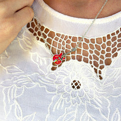 Bona-Fide Red ES Guitar Necklace