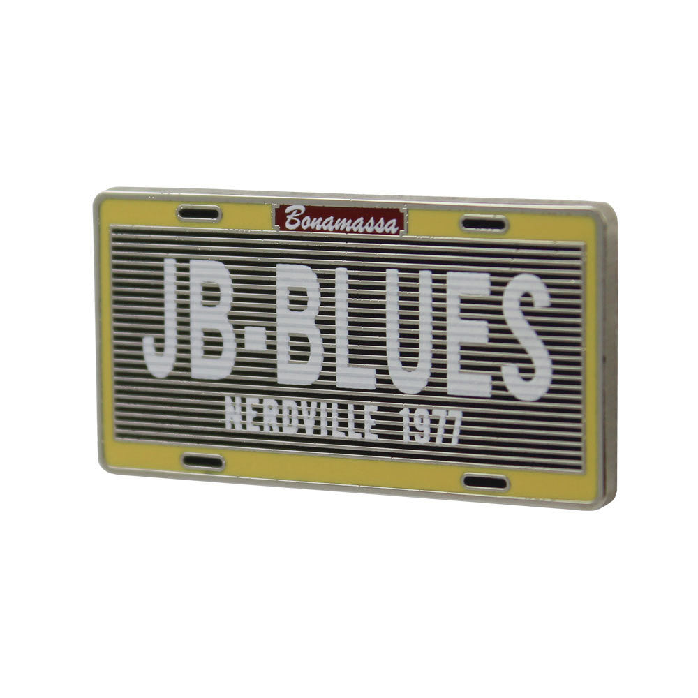 Nerdville License Plate Pin