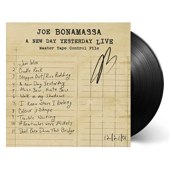 Joe Bonamassa: A New Day Yesterday Live (Vinyl) (Released: 2005) - Hand-Signed