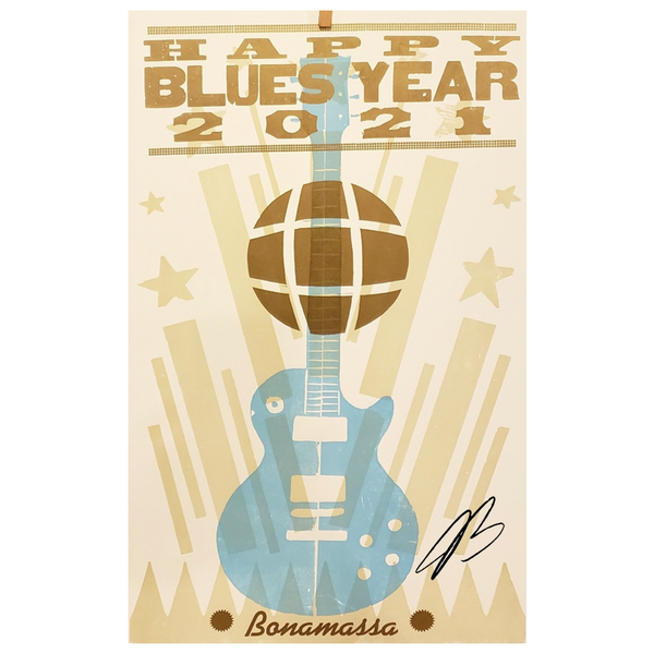 Happy Blues Year (2021) Hatch Print - Hand-Signed