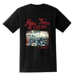Palm Trees & Guitars Pocket T-Shirt (Unisex)