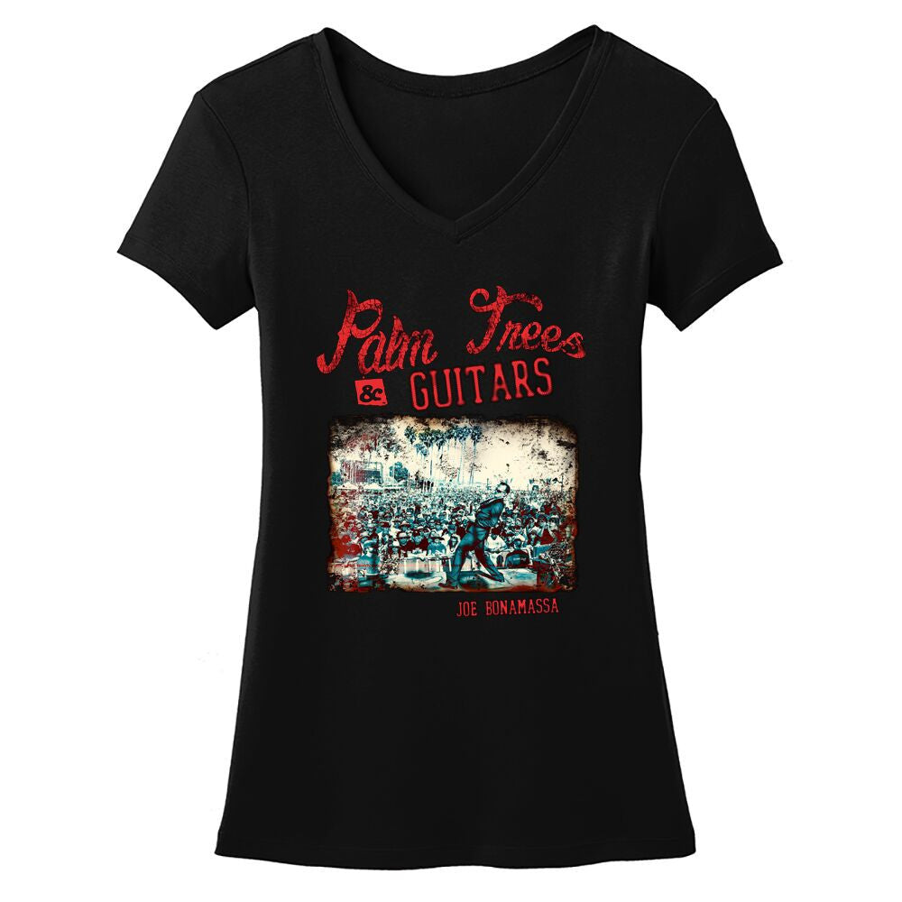 Palm Trees & Guitars V-Neck (Women)