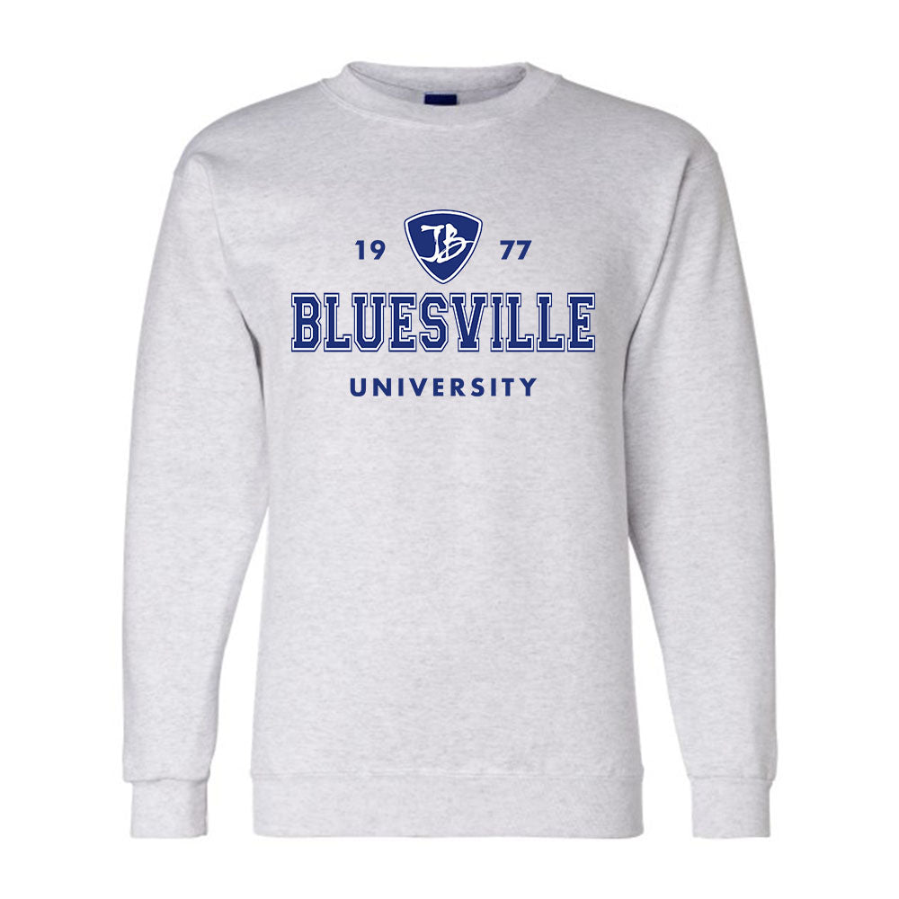 Bluesville University Logo Champion Sweatshirt (Men) - Silver Grey