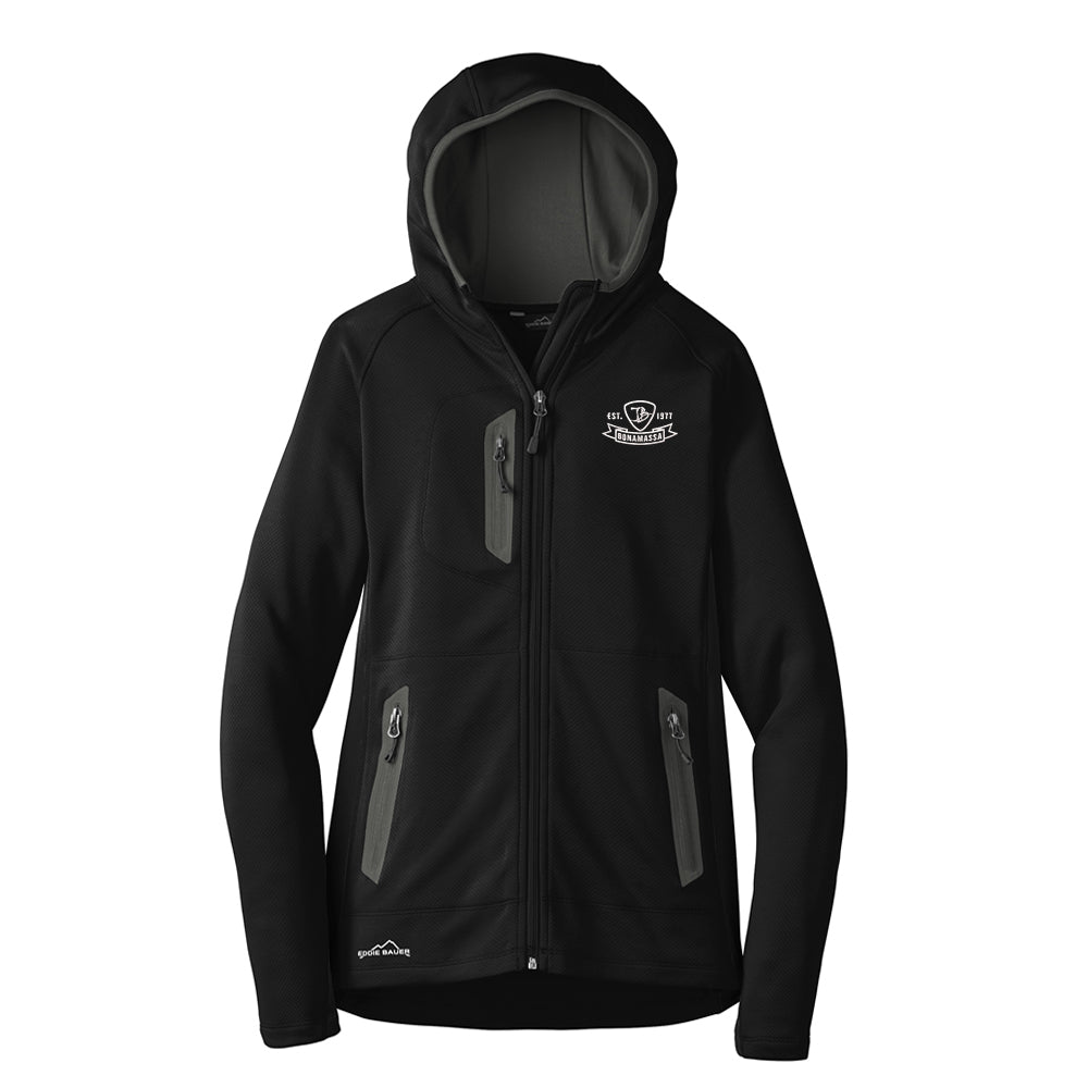 Bonamassa Pick Emblem Eddie Bauer Sport Hooded Full-Zip Fleece Jacket (Women) - Black