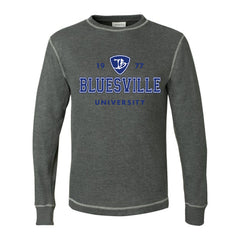 Bluesville University Logo Thermal (Unisex) - Charcoal