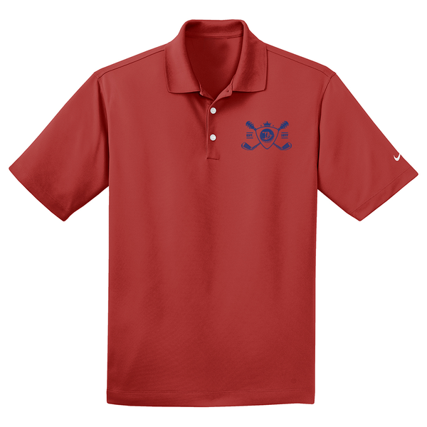 Blues Bogey Nike Dri-FIT Micro Pique Polo (Men) - Varsity Red