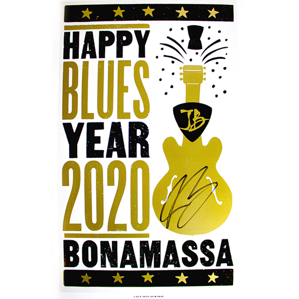 Happy Blues Year (2020) Hatch Print - Hand-Signed