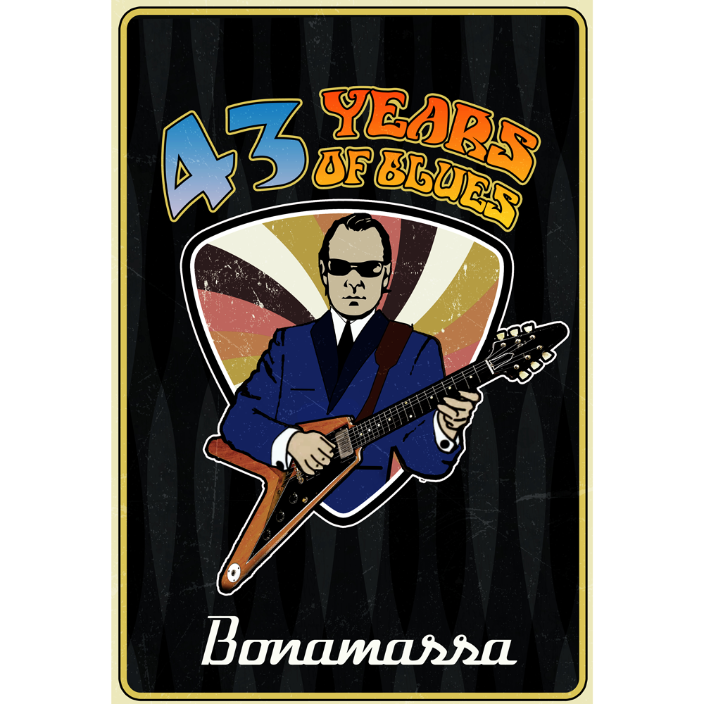 2020 Joe Bonamassa 43 Years of Blues Poster - Limited Edition (100 pieces)