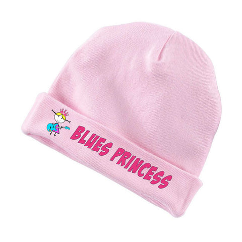 Blues Princess Rabbit Skin Infant Cap