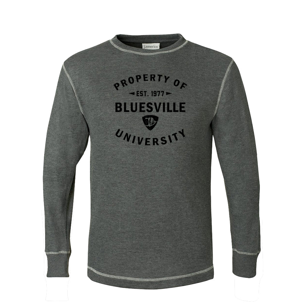 Property of Bluesville University Thermal (Unisex) - Charcoal