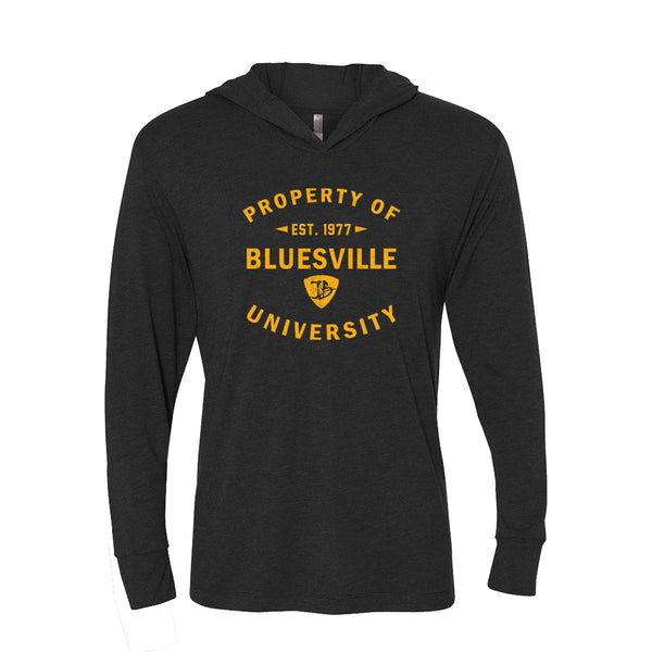 Property of Bluesville University Long Sleeve & Hoodie (Unisex) - Vintage Black