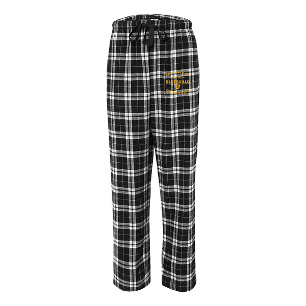 Property of Bluesville Flannel Pants w/Pockets (Unisex) - Black/Grey