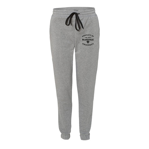 Property of Bluesville University Sweatpants (Unisex) - Heather Grey