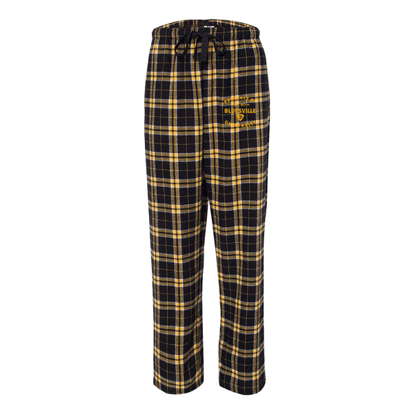 Property of Bluesville Flannel Pants w/Pockets (Unisex) - Black/Gold