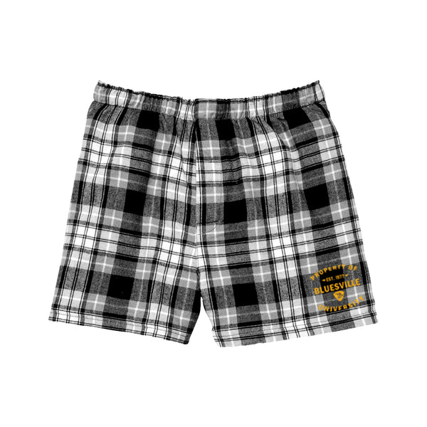Property of Bluesville University Flannel Boxer (Men) - Black/Grey