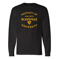 Property of Bluesville University Champion Long Sleeve (Men) - Black