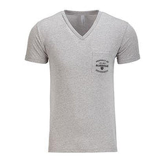 Property of Bluesville University V-Neck Pocket T-Shirt (Men) - Heather Grey