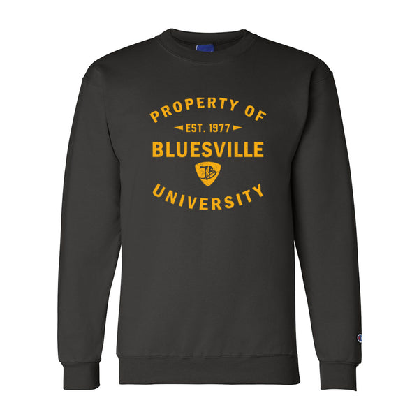 Property of Bluesville University Champion Sweatshirt (Men) - Black