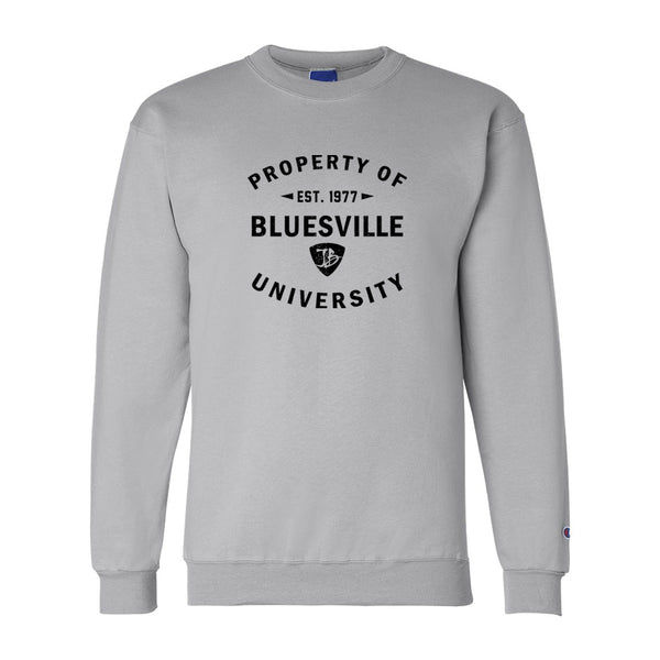 Property of Bluesville University Champion Sweatshirt (Men) - Light Steel