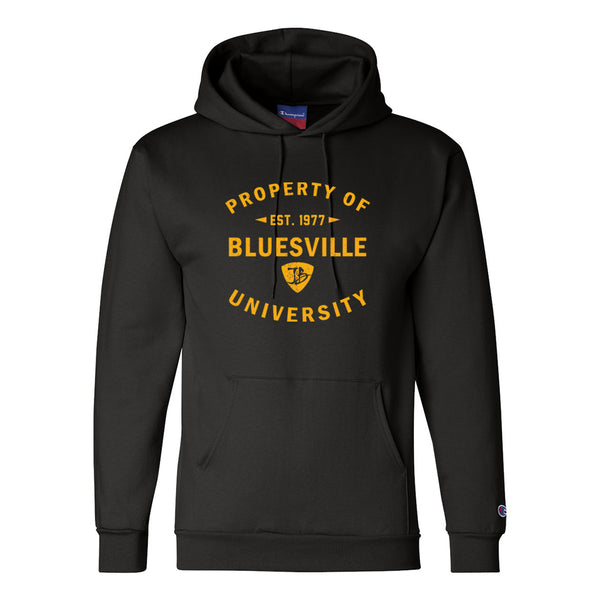 Property of Bluesville Champion Hooded Sweatshirt (Men) - Black