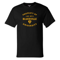 Property of Bluesville University Champion T-Shirt (Men) - Black