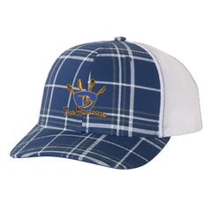 Quadzilla Trucker Hat - Plaid/Royal