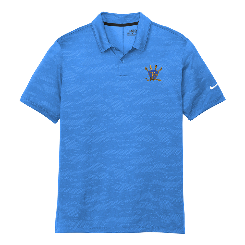 Quadzilla Nike Dri-FIT Waves Jacquard Polo (Men) - Blue