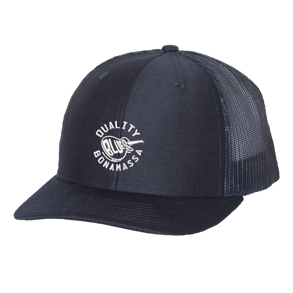 Quality Blues Snapback Trucker Hat - Navy/Navy
