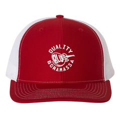 Quality Blues Snapback Trucker Hat - Red/White