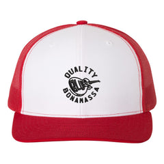 Quality Blues Snapback Trucker Hat - White/Red